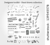 designers toolkit   hand drawn... | Shutterstock .eps vector #139545578
