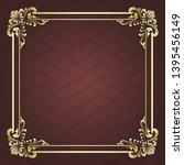 decorative frame in vintage... | Shutterstock .eps vector #1395456149