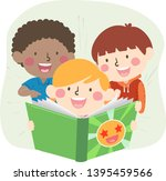 illustration of kids smiling... | Shutterstock .eps vector #1395459566