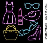 women clothing  shoes ...   Shutterstock .eps vector #1395459953