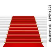 red carpet with ladder.... | Shutterstock .eps vector #139546328