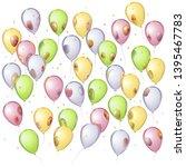 vector mirror balloons... | Shutterstock .eps vector #1395467783