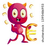 devil with euro sign ... | Shutterstock .eps vector #1395486953