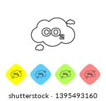 grey co2 emissions in cloud... | Shutterstock .eps vector #1395493160