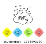 grey co2 emissions in cloud... | Shutterstock .eps vector #1395493190