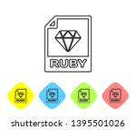 grey ruby file document icon.... | Shutterstock .eps vector #1395501026