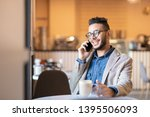 young successful businessman in ... | Shutterstock . vector #1395506093
