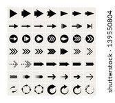 set of 49 black arrows. eps8 | Shutterstock .eps vector #139550804