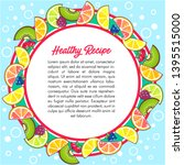 fruity round colorful text frame | Shutterstock .eps vector #1395515000