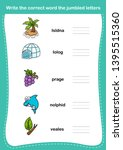 write the correct word the... | Shutterstock .eps vector #1395515360