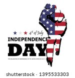 4th of july happy independence... | Shutterstock .eps vector #1395533303