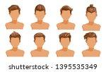men hair. set of men cartoon...   Shutterstock .eps vector #1395535349
