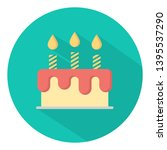birthday cake flat icon vector | Shutterstock .eps vector #1395537290