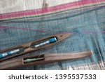 weave and thai silk. activity... | Shutterstock . vector #1395537533