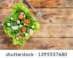 mix salad and healthy. fresh... | Shutterstock . vector #1395537680