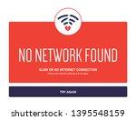 no internet webpage design... | Shutterstock .eps vector #1395548159
