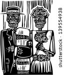 woodcut style mexican day of... | Shutterstock .eps vector #139554938