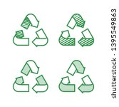 set of recycling signs. icons... | Shutterstock .eps vector #1395549863