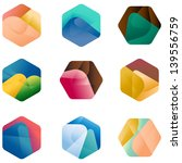 design hexagonal vector logo... | Shutterstock .eps vector #139556759