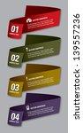 modern vector numbered banners. ... | Shutterstock .eps vector #139557236