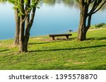 idyllic lake with recreational... | Shutterstock . vector #1395578870
