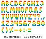alphabet latin letters from... | Shutterstock . vector #1395591659