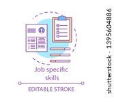 job specific skills concept... | Shutterstock .eps vector #1395604886