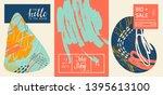 creative doodle cards art...   Shutterstock .eps vector #1395613100