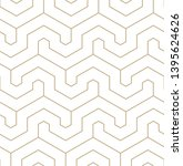 vector geometric gold pattern.... | Shutterstock .eps vector #1395624626