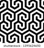 seamless geometric monochrome...   Shutterstock .eps vector #1395624650
