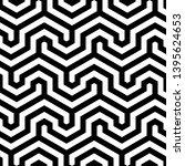 seamless geometric monochrome...   Shutterstock .eps vector #1395624653