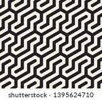 seamless geometric monochrome... | Shutterstock .eps vector #1395624710