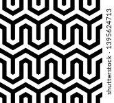 seamless geometric monochrome... | Shutterstock .eps vector #1395624713
