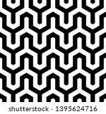 seamless geometric monochrome... | Shutterstock .eps vector #1395624716