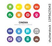 16 cinema vector icons set... | Shutterstock .eps vector #1395625043