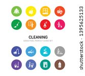 16 cleaning vector icons set... | Shutterstock .eps vector #1395625133