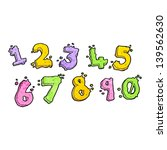cartoon numbers | Shutterstock . vector #139562630