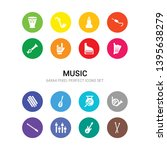 16 music vector icons set...   Shutterstock .eps vector #1395638279