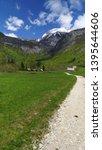 mountain view in voje valley ... | Shutterstock . vector #1395644606