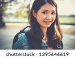 close up traveler backpacker... | Shutterstock . vector #1395646619