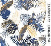 seamless pattern with exotic... | Shutterstock .eps vector #1395650966