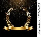 realistic gold laurel wreath... | Shutterstock .eps vector #1395654059