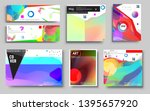modern abstract covers set.... | Shutterstock .eps vector #1395657920