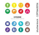16 hygiene vector icons set... | Shutterstock .eps vector #1395663056