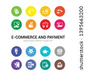 16 e commerce and payment... | Shutterstock .eps vector #1395663200