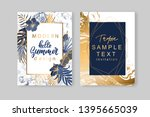 set of elegant brochure ... | Shutterstock .eps vector #1395665039
