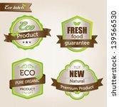 eco labels set | Shutterstock .eps vector #139566530