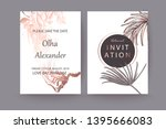 set of elegant chic brochure  ... | Shutterstock .eps vector #1395666083