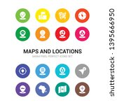 16 maps and locations vector... | Shutterstock .eps vector #1395666950