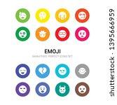 16 emoji vector icons set...   Shutterstock .eps vector #1395666959
